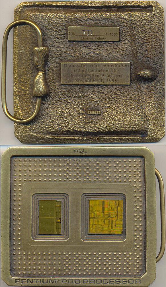 Intel Pentium d Inside Pentium Pro Intel Beltbuckle