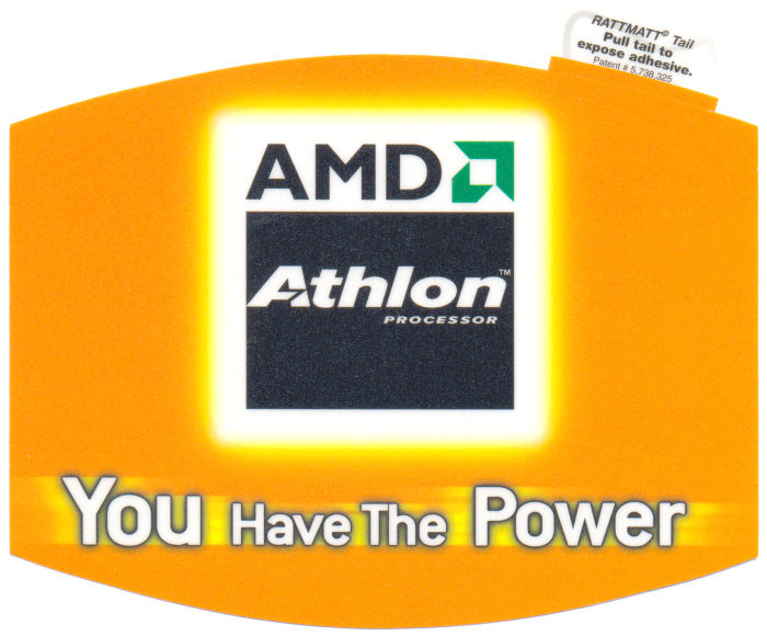 "AMD mousepad Athlon ""You have the power"""
