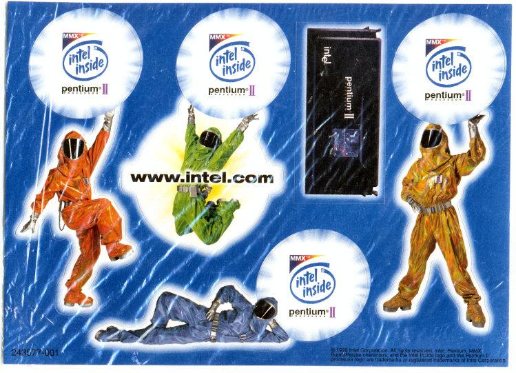 Intel Pentium Inside Sticker Stickers Intel Pentium ii