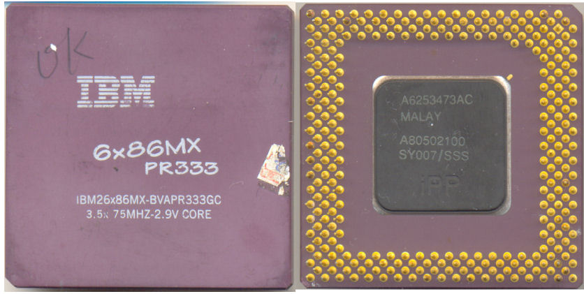 IBM 6x86MX PR333 FAKE