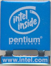 Intel pin 'Intel inside' lightblue