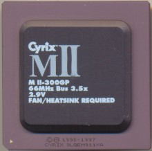 Cyrix MII 300GP blacktop