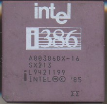 Intel A80386DX-16 SX213