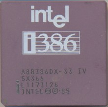 Intel A80386DX-33 IV SX366 'Old logo'